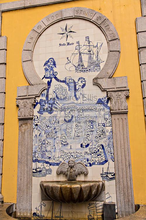 Portuguese style fountain in  of Macau.