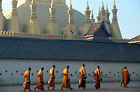 Laos. Vientaine. Temple // Pha That Luang Pha That Luang temple - Vientiane - Lao People's Democratic Republic