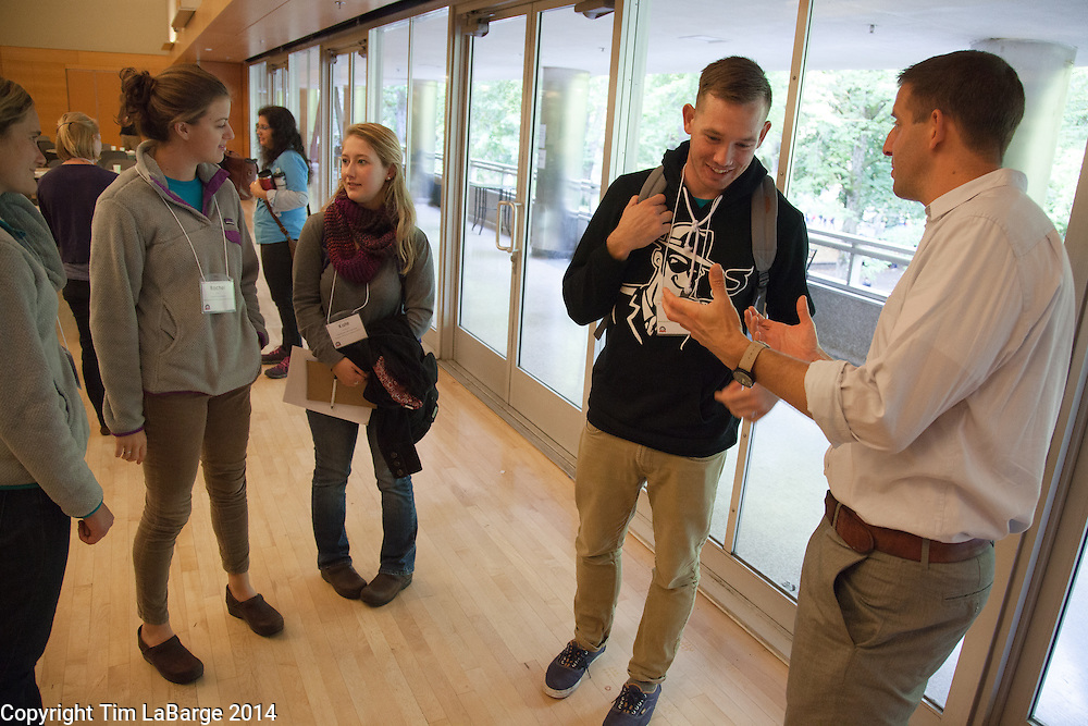 The Conversation Project at the AmeriCorps kickoff at PSU. Photo © Tim LaBarge 2014