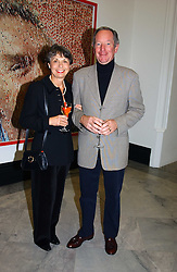 MR & MRS MICHAEL BUERK he is the news reader at a party to celebrate the publication of 'You Are Here' by Rory Bremner, Juhn Bird and John Fortune held at the National Portrait Gallery, St.Martin's Place, London on 1st November 2004.<br /><br />NON EXCLUSIVE - WORLD RIGHTS