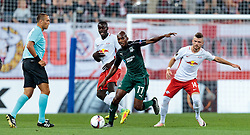 15.09.2016, Red Bull Arena, Salzburg, AUT, UEFA EL, FC Red Bull Salzburg vs FC Krasnodar, Gruppe I, 1. Runde, im Bild Schiedsrichter Miroslav Zelinka (CZE), Dayot Upamecano (FC Red Bull Salzburg), Charles Kabore (FC Krasnodar), Valon Berisha (FC Red Bull Salzburg) // during the UEFA Europa League, group I, 1st round match betweenFC Red Bull Salzburg and FC Krasnodar at the Red Bull Arena in Salzburg, Austria on 2016/09/15. EXPA Pictures © 2016, PhotoCredit: EXPA/ JFK