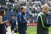 Preston Manager Simon Grayson during the Sky Bet Championship match between Preston North End and Leeds United at Deepdale, Preston, England on 7 May 2016. Photo by Pete Burns.