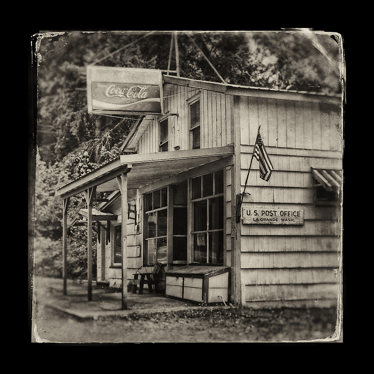 "Charles Blackburn Instagram image of the La Grande Post Office in La Grande, WA. 5x5"" print."