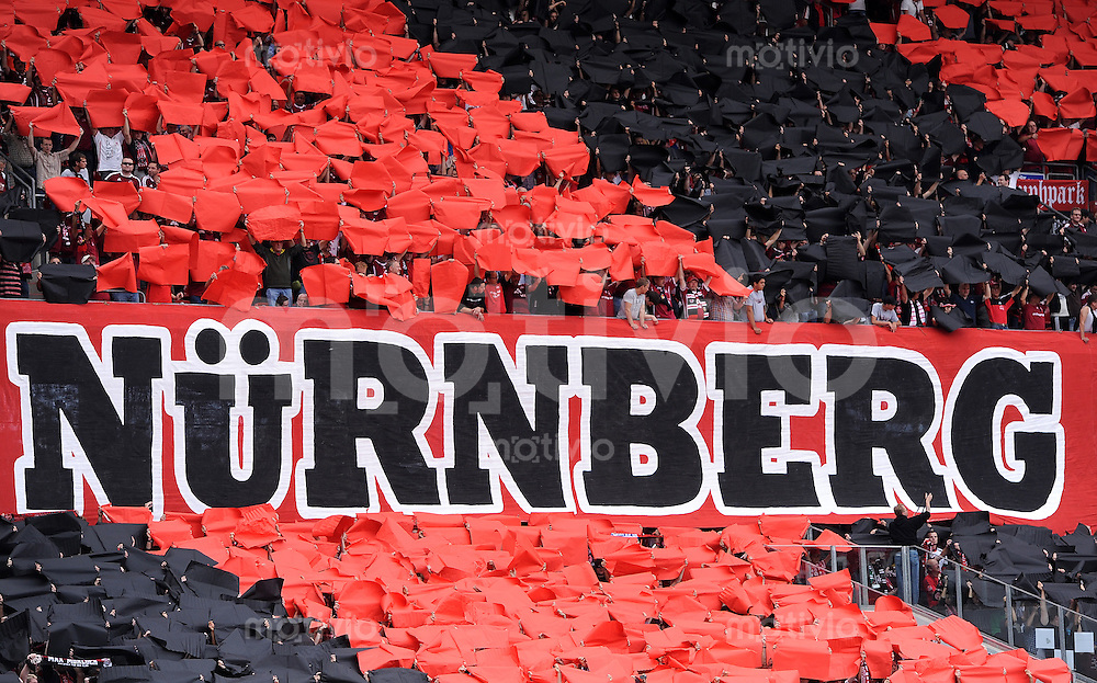 FUSSBALL   1. BUNDESLIGA  SAISON 2011/2012   2. Spieltag 1 FC Nuernberg - Hannover 96          13.08.2011 Fans vom 1 FC Nuernberg