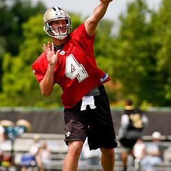 June 5, 2010; Metairie, LA, USA; New Orleans Saints rookie quarter Sean Cainfield (4) throws a pass during a mini camp practice at the New Orleans Saints practice facility. Mandatory Credit: Derick E. Hingle