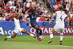 June 28, 2019 - Paris, ile de france, France - Kadidiatou DIANI (FRA) in action during the first period of the quarter-final between FRANCE vs USA in the 2019 women's football World cup at Parc des Princes in Paris, on the 28 June 2019. (Credit Image: © Julien Mattia/NurPhoto via ZUMA Press)