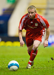 WARRINGTON, ENGLAND - Saturday, March 1, 2008: Liverpool's Jay Spearing in action against Bolton Wanderers during the FA Premiership Reserves League (Northern Division) match at the Halliwell Jones Stadium. (Photo by David Rawcliffe/Propaganda)