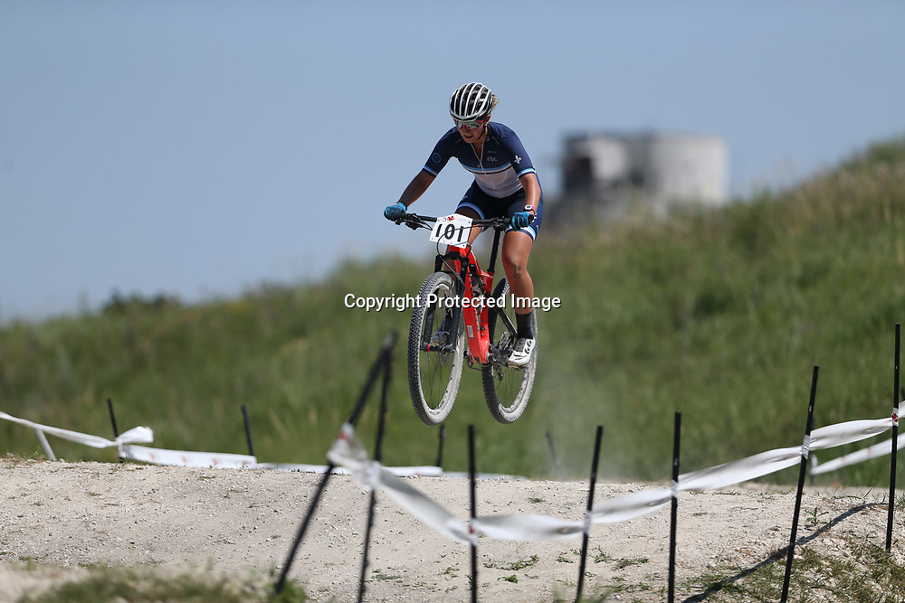 TREVOR HAGAN / WINNIPEG FREE PRESS<br /> Quebec mountain biker Anne-Julie Tremblay finished first during the 2017 Canada Summer Games, Sunday, July 30, 2017.