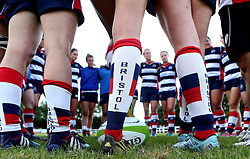 Bristol Ladies huddle together after their win against Aylesford Bulls - Mandatory by-line: Robbie Stephenson/JMP - 18/09/2016 - RUGBY - Cleve RFC - Bristol, England - Bristol Ladies Rugby v Aylesford Bulls Ladies - RFU Women's Premiership