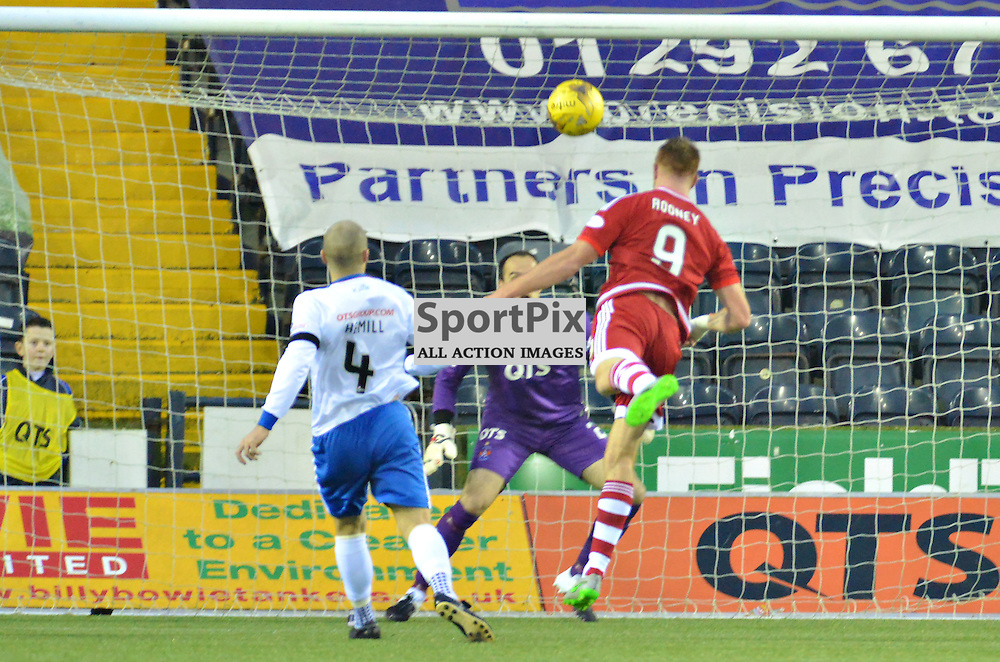 Adam Rooney heads home Aberdeen's second goal at Killie......(c) BILLY WHITE | SportPix.org.uk