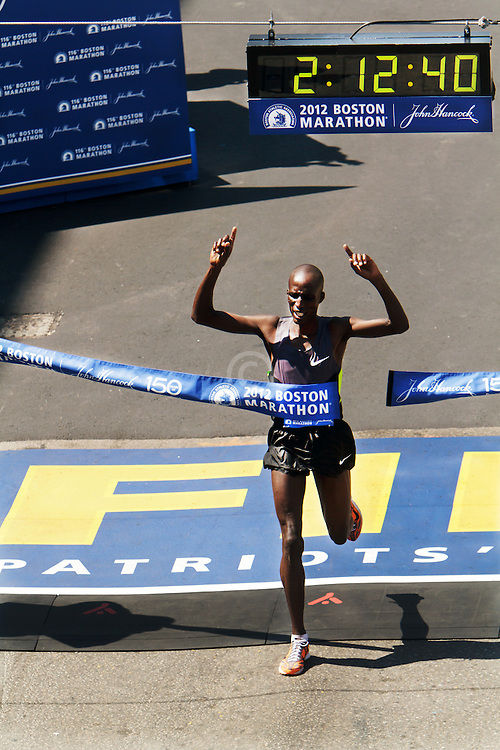 Wesley Korir wins Boston Marathon