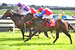 Deep Breath ridden by Pat Smullen (near side) win The Galway Shopping Centre Irish EBF Nursery Handicap during Super Saturday of the Galway Summer Festival at Galway Racecourse.
