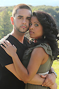 Vanessa and Chris pose for engagement photos