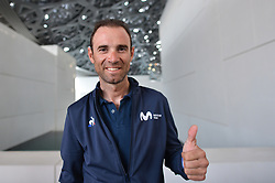 February 23, 2019 - Abu Dhabi, United Arab Emirates - Alejandro Valverde of Spain and Movistar Team, during Top Riders Photo session inside the Louvre Abu Dhabi Museum..On Saturday, February 23, 2019, Abu Dhabi, United Arab Emirates. (Credit Image: © Artur Widak/NurPhoto via ZUMA Press)