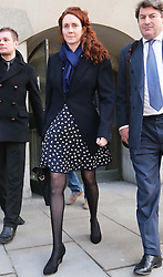 Rebekah Brooks leaving the Phone hacking trial at the Old Bailey in London on Thursday, 27th February 2014. Picture by Stephen Lock / i-Images