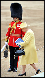 HM The Queen leaves Horse Guards Parade for the Queen's Trooping of the Colour, The Queen's Birthday Parade, Saturday June 16, 2012. Photo by Andrew Parsons/i-Images..All Rights Reserved ©Andrew Parsons/i-Images .See Special Instructions