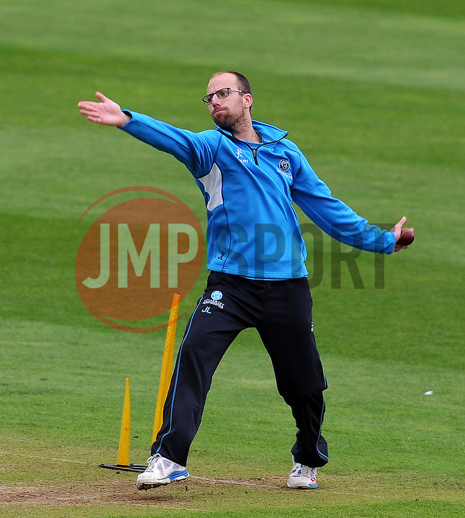 Somerset's Jack Leach Photo mandatory by-line: Harry Trump/JMP - Mobile: 07966 386802 - 10/05/15 - SPORT - CRICKET - Somerset v New Zealand - Day 3- The County Ground, Taunton, England.