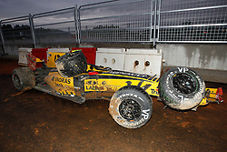 Motorsports / Formula 1: World Championship 2010, GP of Korea, car of 12 Vitaly Petrov (RUS, Renault F1 Team) after crash