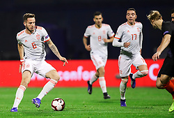 Saúl Ñíguez of Spain during the UEFA Nations League football match between Croatia and Spain, on November 15, 2018, at the Maksimir Stadium in Zagreb, Croatia. Photo by Morgan Kristan / Sportida