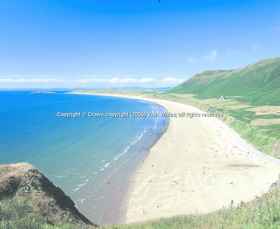 Rhossili<br /> Gower peninsula - South Wales<br /> Towns &amp; Villages