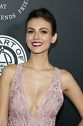 Victoria Justice at the Art Of Elysium's 11th Annual Heaven Celebration held at the Barker Hangar in Santa Monica, USA on January 6, 2018.