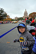 The 20th Annual Chuy's Children Giving to Children Parade, Austin, Texas, November 29, 2008. Chuy's is a Tex Mex restaurant in Austin.  The Children Giving to Children Parade features gifts given by the viewers to Operation Blue Santa.