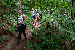 / in training for the Camino 2020 on the N70 hiking route, in the Rijk van Nijmegen you can climb no less than 8 mountains, including the famous Duivelsberg. The route is tough, but the reward is sweet: phenomenal views over chestnut forests, Waal & Ooijpolder on June 27, 2020 in Berg en Dal.
