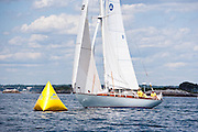 Taygeta sailing in the Corinthian Classic Yacht Regatta.