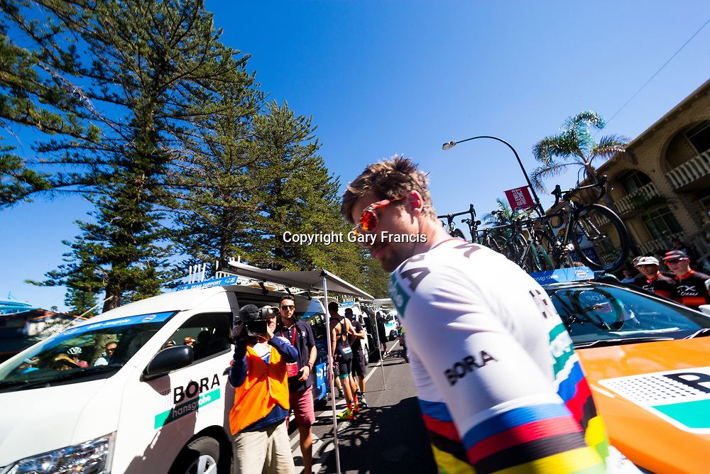 Peter Sagan at the start of Stage 3, Glenelg to Victor Harbor, of the Tour Down Under, Australia on the 18 of January 2018 ( Credit Image: © Gary Francis / ZUMA WIRE SERVICE )