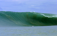 Gigantic wave breaking at Lagundri Bay, Nias Island, Indonesia