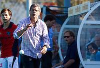 WASSENAAR -  HGC coach Alejandro Verga zondag tijdens de Hoofdklasse hockey heren HGC-LAREN 2-2. FOTO KOEN SUYK