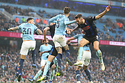 5 John Stones for Manchester City and Rotherham United defender Joe Mattock (3) during the The FA Cup 3rd round match between Manchester City and Rotherham United at the Etihad Stadium, Manchester, England on 6 January 2019.