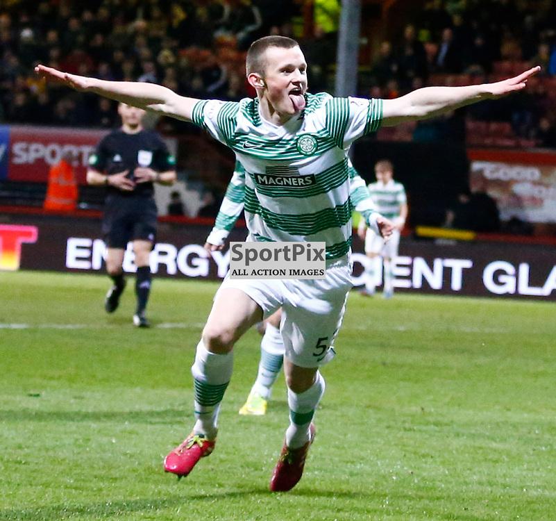 PARTICK THISTLE v CELTIC..Liam Henderson celebrates celtics second goal...(c) STEPHEN LAWSON | SportPix.org.uk