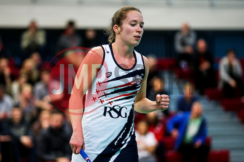 Nicky Cerfontyne in action for the Bristol Jets - Rogan Thomson/JMP - 09/01/2017 - BADMINTON - SGS Wise Arena - Bristol, England - Bristol Jets v Birmingham Lions - AJ Bell National Badminton League.