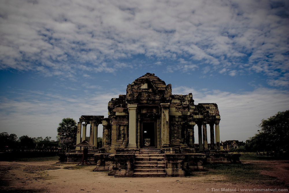 One of the libraries at Angkor Wat, one of the seven wonders of the ancient world in Siem Reap, Cambodia.<br /> <br /> Available from Getty Images, Master Number: 103431099<br /> <br /> Or Click:<br /> http://bit.ly/ih8gWs