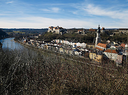 GERMANY BAVARIA BURGHAUSEN 6FEB14 - View of Burghausen castle on the banks of the river Alz.<br /> <br /> jre/Photo by Jiri Rezac<br /> <br /> © Jiri Rezac 2014