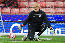 Jakob Haugaard of Stoke City warms up - Mandatory by-line: Matt McNulty/JMP - 18/04/2016 - FOOTBALL - Britannia Stadium - Stoke, England - Stoke City v Tottenham Hotspur - Barclays Premier League