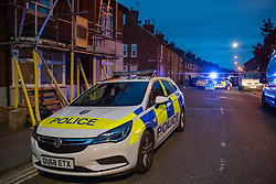 © Licensed to London News Pictures. 22/07/2020. Thame, UK. Police vehicles on Chinnor Road in Thame. Thames Valley Police has launched a murder investigation in Thame. At approximately  19:05BST a man was found with injuries in Chinnor Road, Thame. The 20-year-old man was pronounced dead at the scene. Photo credit: Peter Manning/LNP