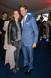 BEN ELLIOT and his wife MARY CLARE ELLIOT at the World's Greatest Quiz Night in aid of the Quintessentially Foundation and Dimbleby Cancer Care held at the Riverside Parliament Panorama marquee at St Thomas' Hospital, Westminster Bridge Road, Londonon 15th September 2015.