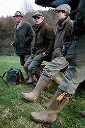 UK ENGLAND GRANTHAM 15DEC11 - The guns enjoy a drink and a chat during a break in the pheasant shooting at the  Belvoir Castle Estate in Leicestershire, England.<br /> <br /> <br />jre/Photo by Jiri Rezac<br /><br /> <br /> <br /> <br /> © Jiri Rezac 2011