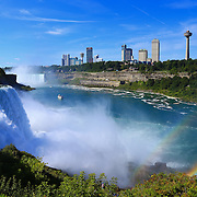 """""""Niagara Falls"""" 5<br /> <br /> Beauty and power of Niagara Falls with a twist of a double rainbow!!<br /> <br /> Waterfalls by Rachel Cohen"""