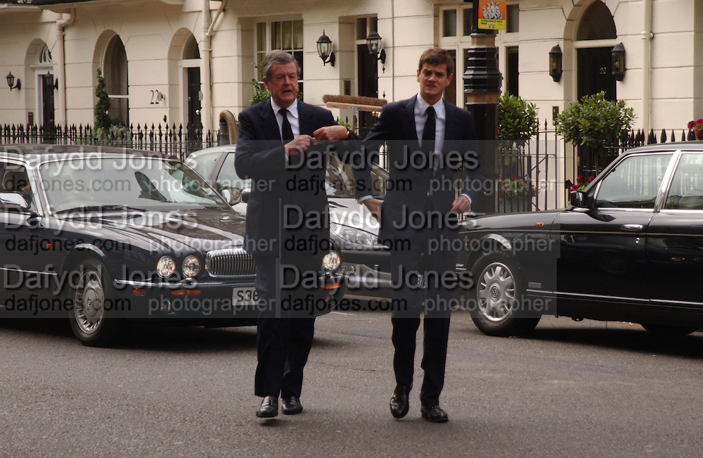 Charles Spencer-Churchill and Alexander Spencer-Churchill, Mark Birley funeral. St Paul's , Knightsbridge. London. 19 September 2007. -DO NOT ARCHIVE-© Copyright Photograph by Dafydd Jones. 248 Clapham Rd. London SW9 0PZ. Tel 0207 820 0771. www.dafjones.com.