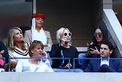 New York  N.Y.  Christie Brinkley and fashion designer Vera Wang during the Men's Singles Finals of the 2017 US Open at the Billie Jean King Tennis Center  on Sept.10, 2017 (Photo by Chaz Niell )