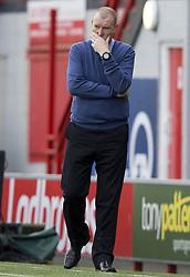 Hamilton manager Brian Rice during the Scottish Premiership match at the Superseal Stadium, Hamilton.