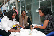 Delegates chat during a break at the NUT Black Teachers Conference 2005..© Martin Jenkinson, tel/fax 0114 258 6808 mobile 07831 189363 email martin@pressphotos.co.uk. Copyright Designs & Patents Act 1988, moral rights asserted credit required. No part of this photo to be stored, reproduced, manipulated or transmitted to third parties by any means without prior written permission