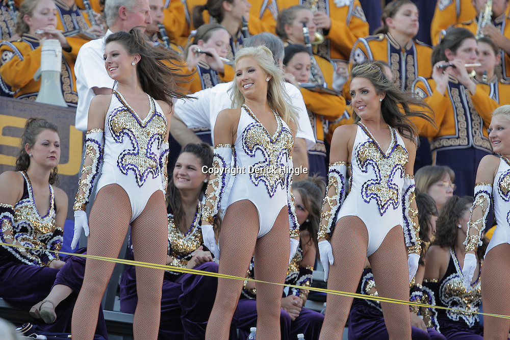 27 September 2008:  LSU Golden Girls dance team performs in the stands during the Mississippi State Bulldogs versus the LSU Tigers game at Tiger Stadium in Baton Rouge, LA.