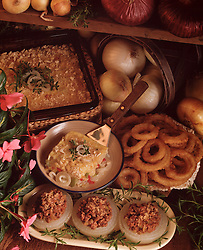 Country kitchen recipes, onions, onion rings