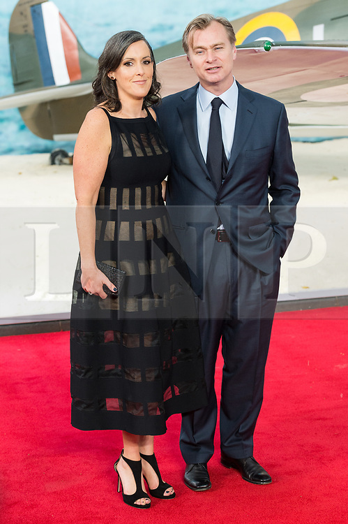 © Licensed to London News Pictures. 13/07/2017. London, UK. EMMA THOMAS and film director CHRISTOPHER NOLAN attends the Dunkirk World Film Premiere. Photo credit: Ray Tang/LNP