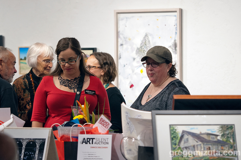 Lindsey Stanton, Stephanie Mitchell. Surel's Place Art Auction fundraiser on June 11, 2016 at the Visual Art Collective, Garden City, Idaho.