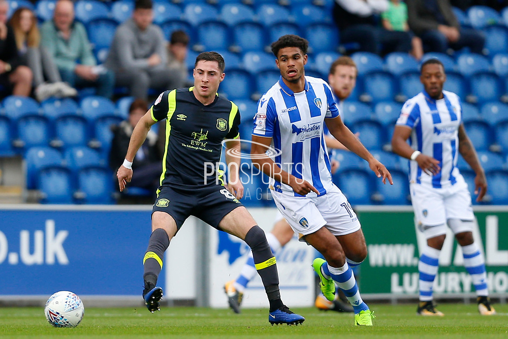 Carlisle United's Mike Jones during the EFL Sky Bet League 2 match between Colchester United and Carlisle United at the Weston Homes Community Stadium, Colchester, England on 14 October 2017. Photo by Phil Chaplin